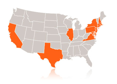 Ambit Energy Service Map